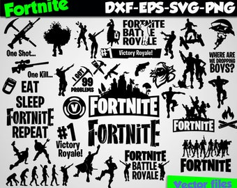 Fortnite svg silhouette stencil file Fortnite clipart svg
