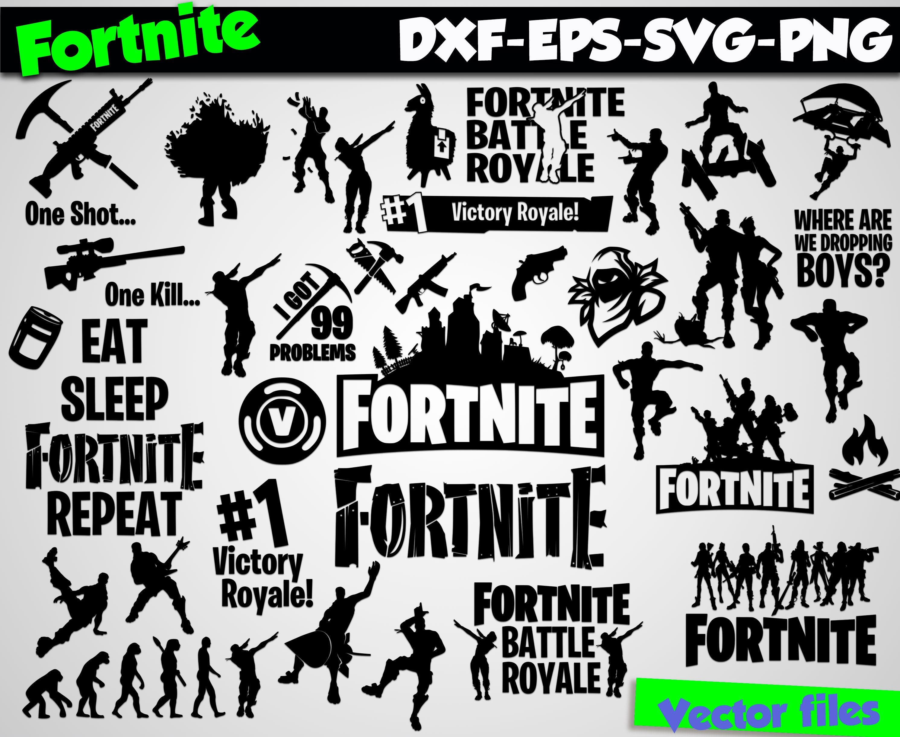 Download Fortnite svg silhouette stencil file Fortnite clipart svg ...