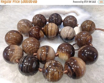 50% Mega Sale 21-22mm Petrified Wood Fossil Beads #3