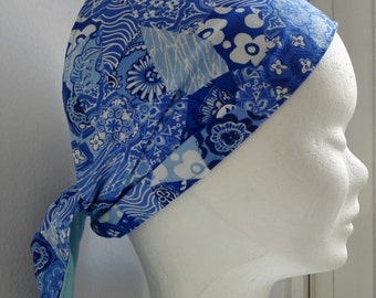 Chinese Blue Bandana