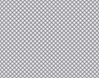Dash Petals Gray, dot & dash, Doodlebug Designs for Riley Blake Designs