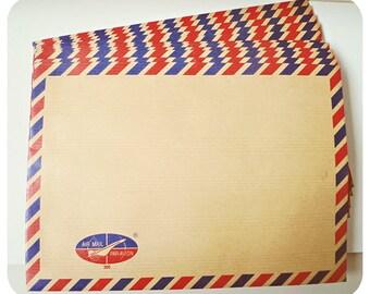 5 Brown Air mail envelopes