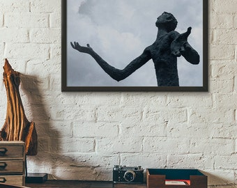 Wall Decor Digital Print Statue Man with Arms Outstretched 11x14