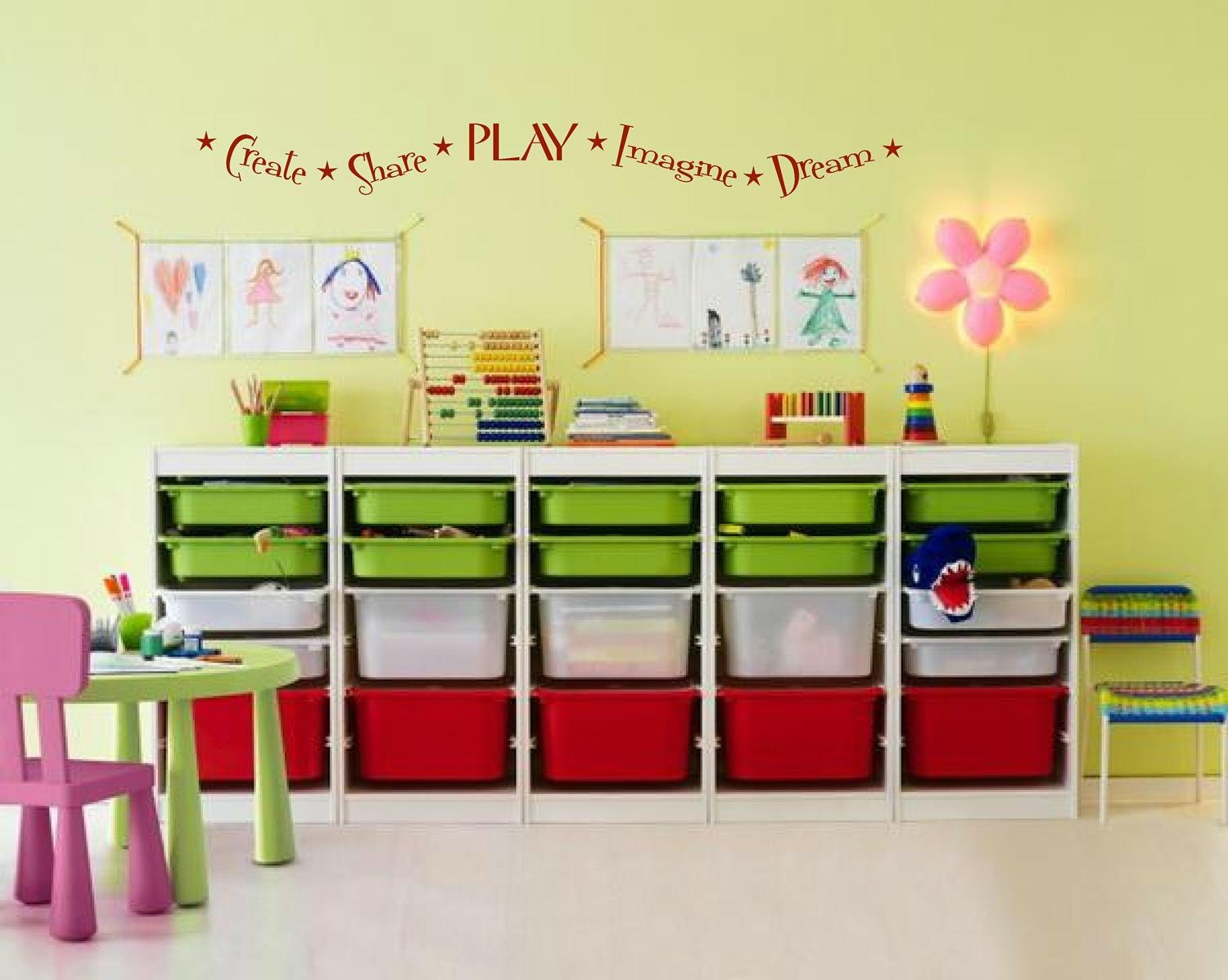 Nursery Playroom Wall Decal Kids wall decals Create Share