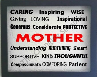 Personalized Subway Art Mother, Mother's Day personalized wall decor, Mother Subway Art, Grandma Subway Art,