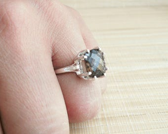 Smoky Quartz Ring Sterling Silver Ready to ship size 6