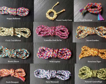 3mm Japanese Kumihimo Braid, Pre Braided Cord, Multi-Colored Cord, Gift Wrapping Cord, Graduation Honor Cords, Handmade Cord,Cotton Cord 3mm
