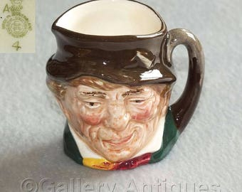 Vintage Royal Doulton Paddy Tinies Series Miniature Character Jug Designed by Harry Fenton c.1940's / 50's D6042 (ref: H113)