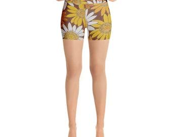 Sunflower Yoga Shorts
