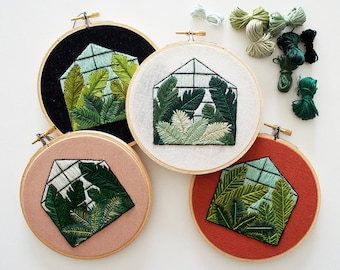Out of Retirement! March 2017 Glasshouse Contemporary Embroidery PDF  #skbdiy Pattern Program Instant Download
