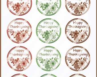 Happy Thanksgiving Favor Sticker Bags/Fall Labels/Thanksgiving Party Stickers/Holiday Labels/Favor tags/Thanksgiving Labels/Fall sticker
