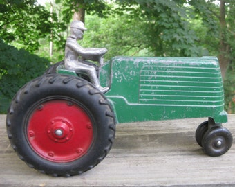 1940s Green SLIK Toy Tractor