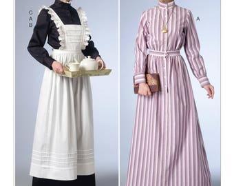 Butterick Historic 6229 Edwardian House-Hold Servant Uniform Downton Abbey
