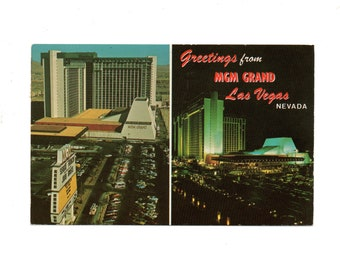 PICTURE POSTCARD, MGM Grand, Nevada, Postmarked 1976, Bicentennial Year, Color Picture Post Card, Free Shipping, Used,