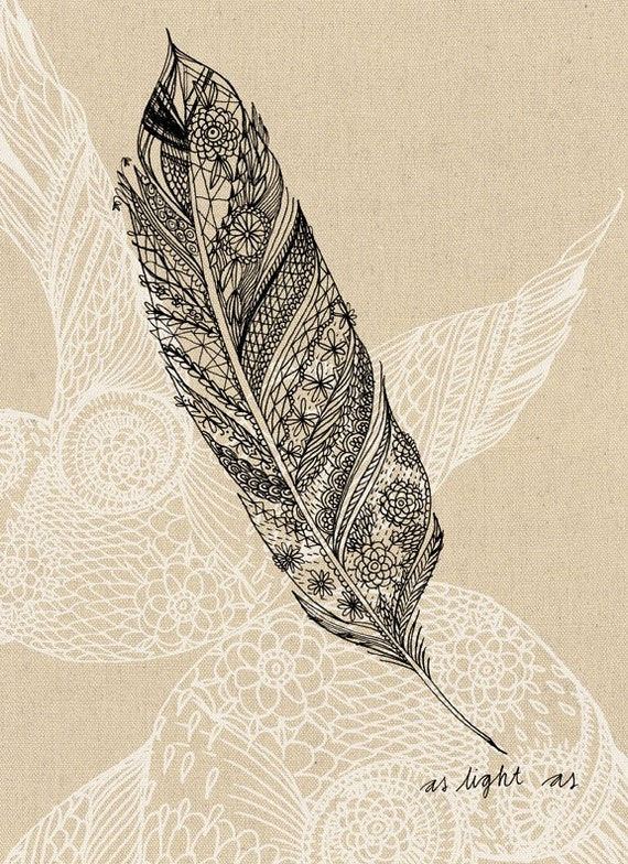 Feather  Wall Art print HOME DECOR
