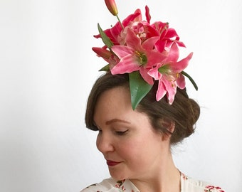 Pink Lily Fascinator