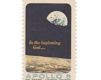 1969 6c Apollo 8 - 10 Unused Vintage Postage Stamps -Item No. 1371
