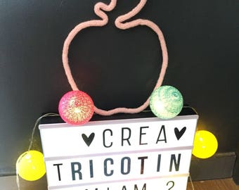 Cute Apple love knitting for decoration