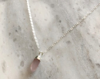 Love Stone Necklace in Sterling Silver