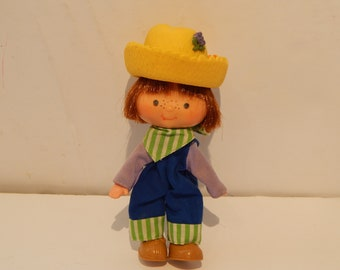 Vintage Strawberry Shortcake Huckleberry Pie Doll First Edition Flat Hands Kenner 1980s