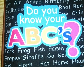 Do You Know the ABC's?   Cloth Book   BK150080