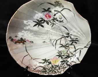 A beautiful Japanese porcelain, shell plate