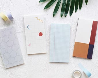 Geometric Shape Memo Pad Collection | Grid Memo Notepad | Lined Sticky Notes Pack | Ruled Sticky Notes | 3D Memo Note / Modern Memo Design