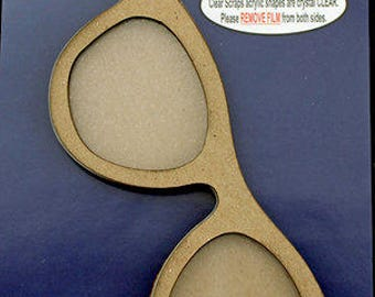 Clear Scraps - Shakers - Sun Glasses