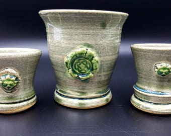3 Piece Drinking Set, Celtic Serving Cup with 2 Gargoyle Shot Glasses!