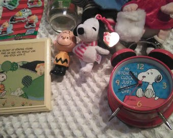 Lot of 8 assorted Peanuts Snoopy/Charlie Brown item's