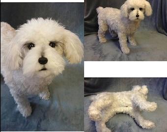 Poodle Plush Poseable Life-Size Large Dog