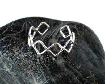 Sterling Silver Geometric Toe Ring