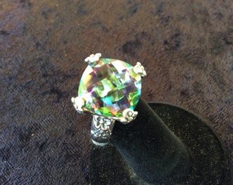 Sterling Silver & Mystic Topaz Ring