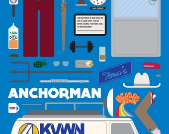 Anchorman • Movie Parts Poster