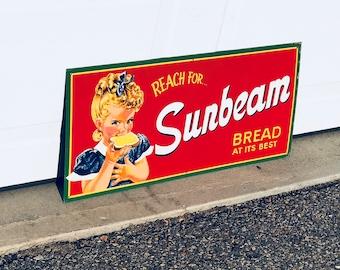 Vintage 1950's Sunbeam Bread Sign