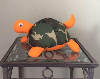 Camo Handmade Stuffed Turtle
