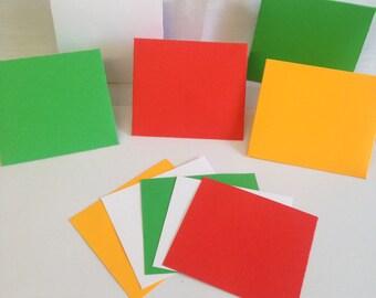 Gift card set,  note card set, note cards, note set, mini envelopes, gift cards, set of 5, handmade note cards