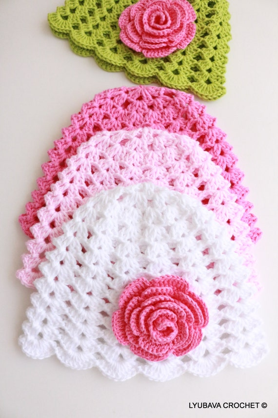 How To Knit A Flower For Baby Hat Diy