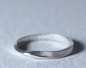 Sterling Silver Eternity Ring | Minimalist Ring | Stacking Rings | Wedding Band