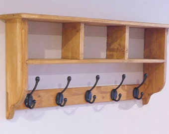 Coat Rack with Cubby Holes