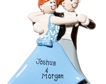 Personalized Ornament- Ballroom Dancer Couple Ornament-Free Gift Bag Included