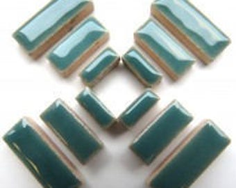 Ceramic Rectangle - Teal Green - 50g / 1.75 oz(approx. 60 pieces)