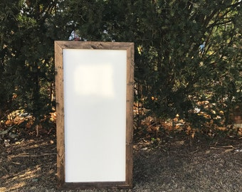 Rustic Dry Erase Board, Rustic Whiteboard, Dry Erase Board, Farmhouse Whiteboard, Framed Dry Erase Board, Framed Whiteboard, Wedding Sign