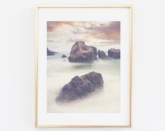 Landscape Photography, Fine Art Photography, Digital file, Instant Download, Ocean Landscape Sea Print, Rocks Nature, Landscape Wall Art