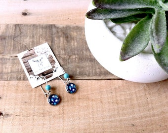 Earrings stainless steel, dangle style, ice cream cone, summer collection