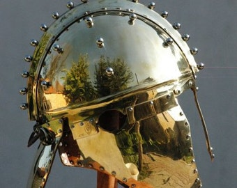 Reconstruction of golden Roman helmet  found in Berkasovo