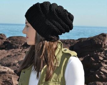 womens slouchy hat, Green womens Slouchy hat, Slouch beanie hat womens slouch hat, womens slouch winter hat, beanie hat women