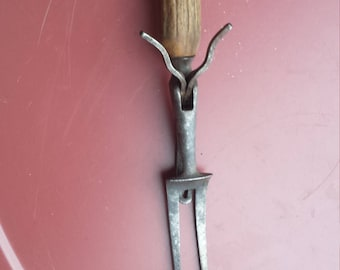 Vintage 2 Prong Bone Handled Fork