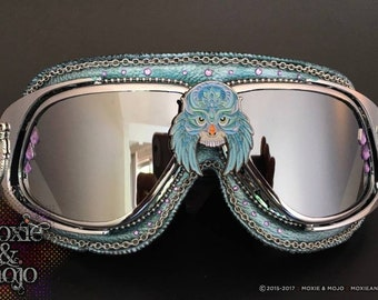 Burning Man Goggles.  Festival Eyewear. Spirit  Guide, Animal Skull