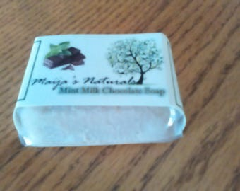 Peppermint Milk Chocolate Soap